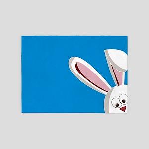 Peeking Bunny 5'x7'Area Rug