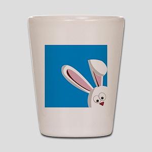 Peeking Bunny Shot Glass