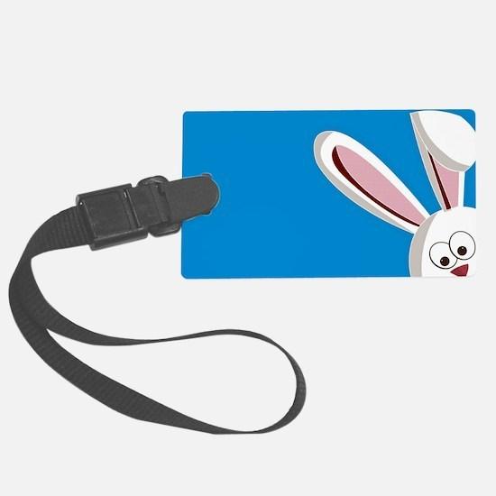 Peeking Bunny Luggage Tag
