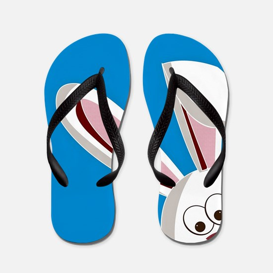 Peeking Bunny Flip Flops