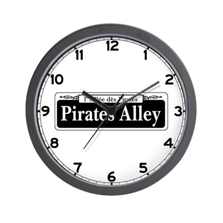 Pirates Alley, New Orleans Wall Clock
