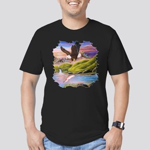 Soaring Eagle Men's Fitted T-Shirt (dark)