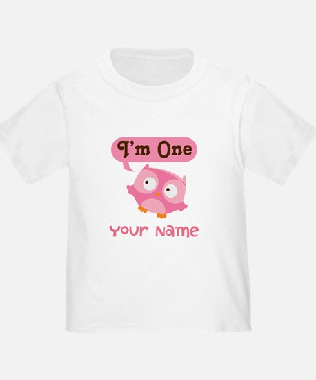 Cute Personalized 1st Birthday Owl T-Shirt