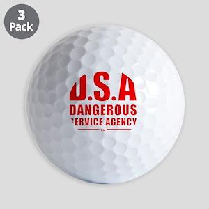 DSA Dangerous Service Agency RED Golf Balls