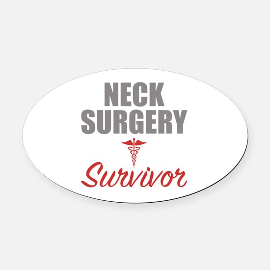 Unique Survive Oval Car Magnet