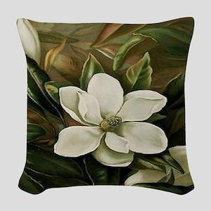 Magnolia Woven Throw Pillow