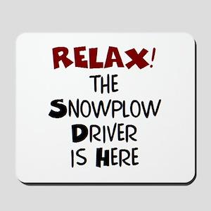 snowplow driver here Mousepad
