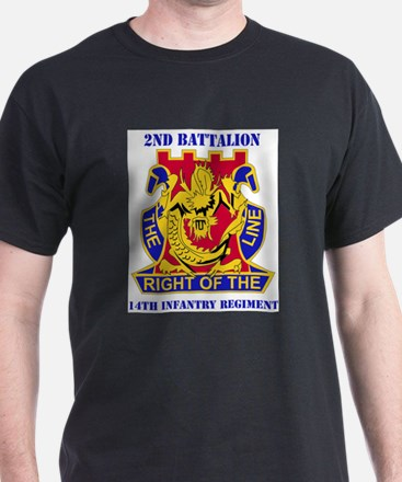DUI - 2nd Bn - 14th Infantry Regt with Tex T-Shirt