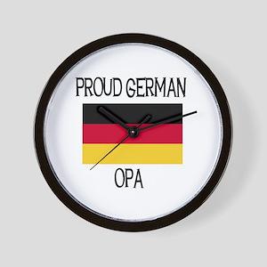Proud German Opa Wall Clock