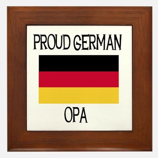 Proud German Opa Framed Tile