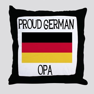Proud German Opa Throw Pillow