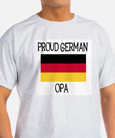 Proud German Opa Ash Grey T-Shirt