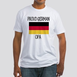 Proud German Opa Fitted T-Shirt