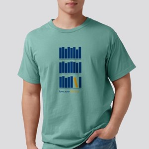 Love Your Library (blue) Mens Comfort Colors Shirt