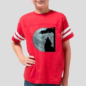 wolfmoon4 Youth Football Shirt