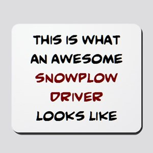 awesome snowplow driver Mousepad