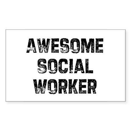 Awesome Social Worker Rectangle Sticker