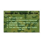 Reasons Not To Steal This Car Car Magnet 20 X 12