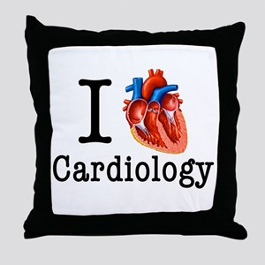 I love Cardiology Throw Pillow