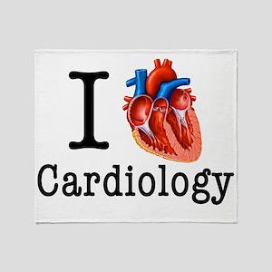 I love Cardiology Throw Blanket