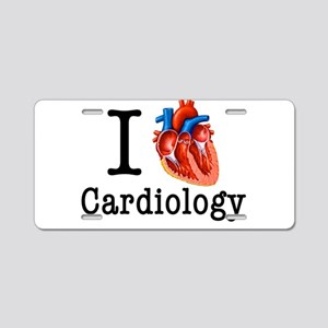 I love Cardiology Aluminum License Plate