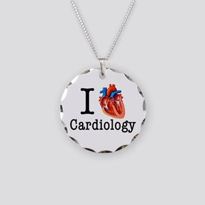 I love Cardiology Necklace Circle Charm