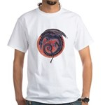 Black Dragon White T-Shirt