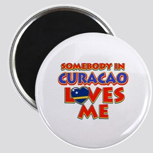 Somebody in Curacao Loves me Magnet