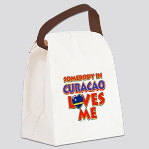 Somebody in Curacao Loves me Canvas Lunch Bag