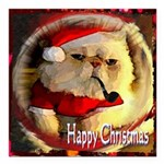 Happy Christmas Square Car Magnet 3