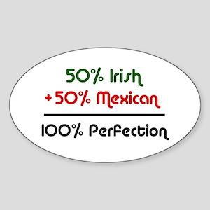 Irish & Mexican Oval Sticker