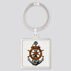 Ship Wheel And Anchor Keychains