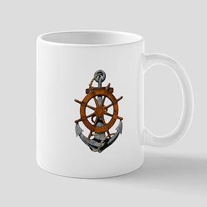 Ship Wheel And Anchor Mugs