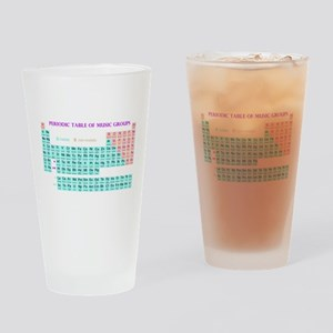 Periodic Table of Music Groups Drinking Glass
