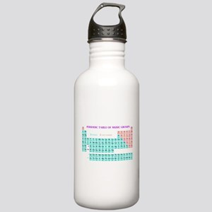 Periodic Table of Music Groups Water Bottle