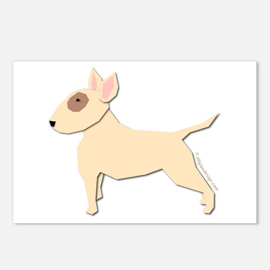 Bull Terrier! (H) Postcards (Package of 8)