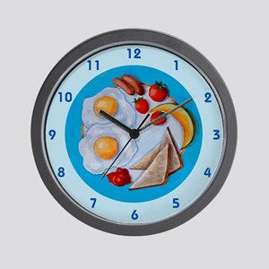 Breakfast plate Wall Clock