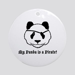 My Panda is a Pirate Ornament (Round)