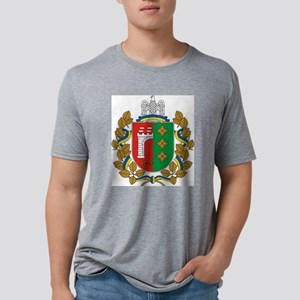 Chernivtsi Oblast Coat of A Mens Tri-blend T-Shirt