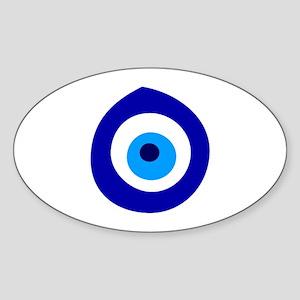 Evil Eye Magic Sticker (Oval)