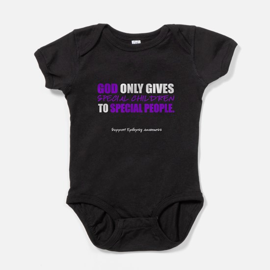 God Only Gives (Epilepsy Awareness) Baby Bodysuit
