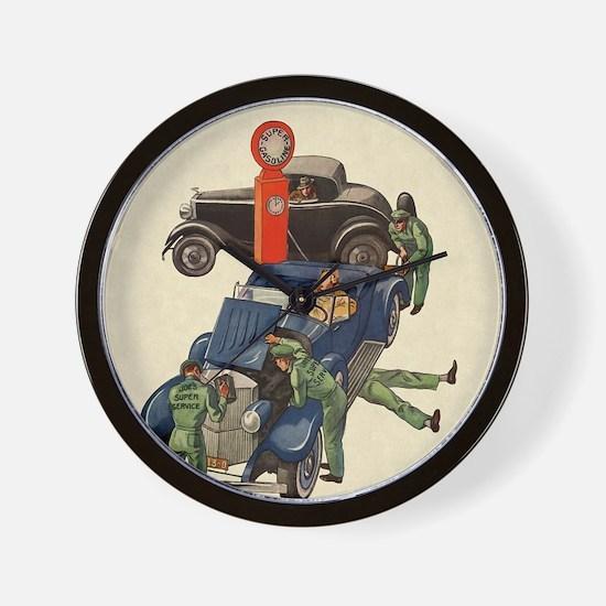 Vintage Mechanics Wall Clock