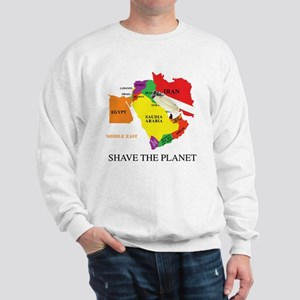 Good Razor = World Peace. Shave the World Sweatsh