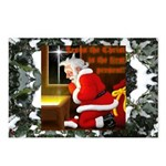 'Santa knelt' Postcards (Package of 8)
