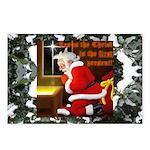 'Santa knelt' Postcards (Package of 8)