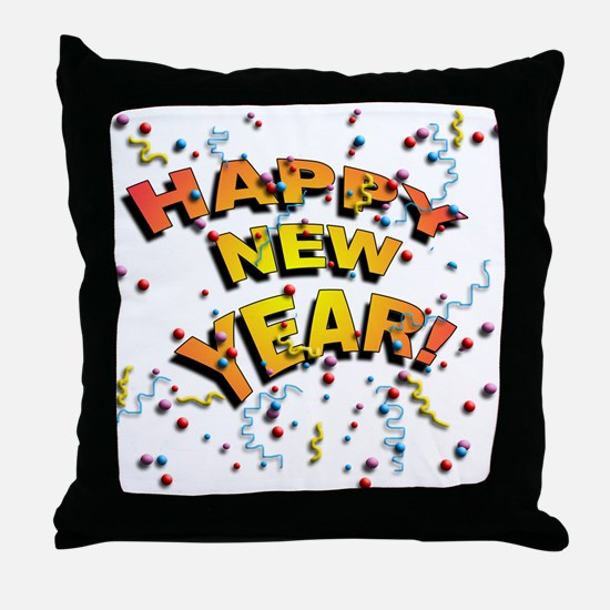 Confetti New Years Eve Throw Pillow