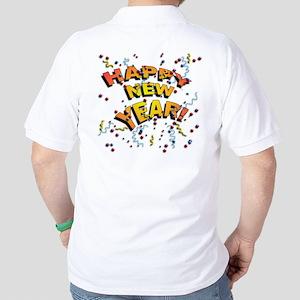 Confetti New Years Eve Golf Shirt
