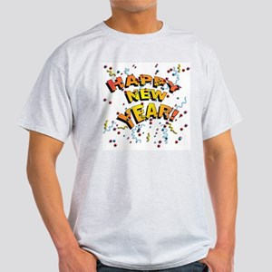 Confetti New Years Eve Ash Grey T-Shirt