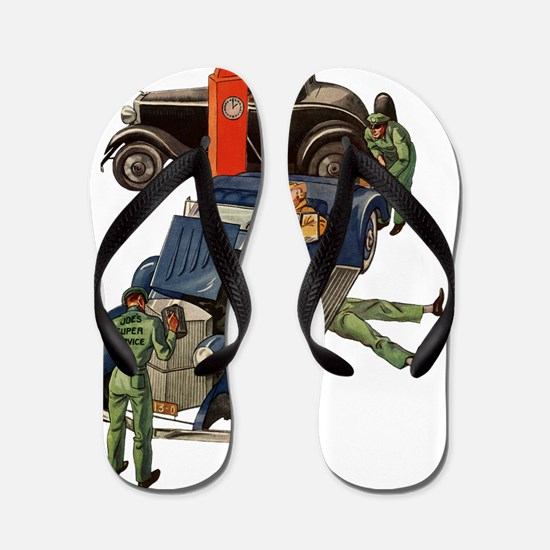 Vintage Mechanics Flip Flops