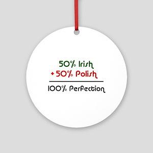 Irish & Polish Ornament (Round)